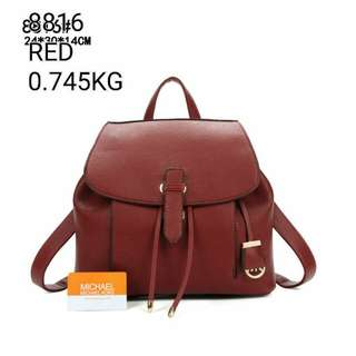 Michael Kors Backpack Maroon Color