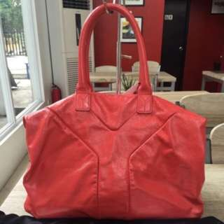 Authentic YSL Pink Patent Easy Tote Bag