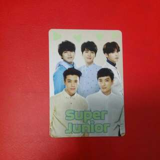 《Yes》 絕版 yescard - Super Junior 夜光 #12682(L)
