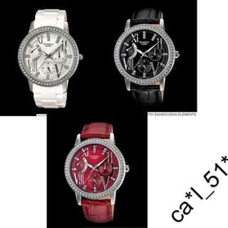 深水步有門市 全新原裝正版正貨有保養有單 Casio 手錶 SHEEN SHE-3025 SHE-3025L