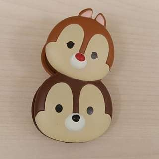 (Free normal postage) Disney Tsum Tsum Chip and Dale Plastic Spring Clip