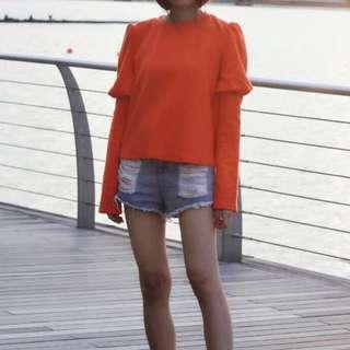 Zara Orange Long Sweater
