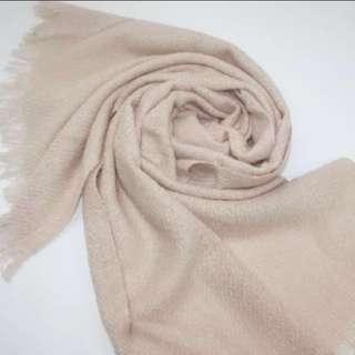 法國🇫🇷CYRILLUS 奶茶杏色毛呢圍巾#冬季衣櫃出清