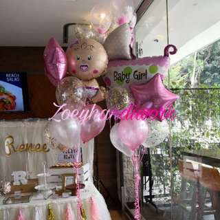 Baby full month/ baby shower balloon clusters