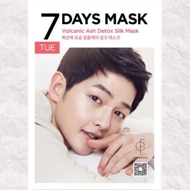 (60% Discount) FORENCOS SONG JOONG KI 7 DAYS MASK [TUESDAY]
