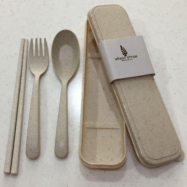 環保小麥餐具組
