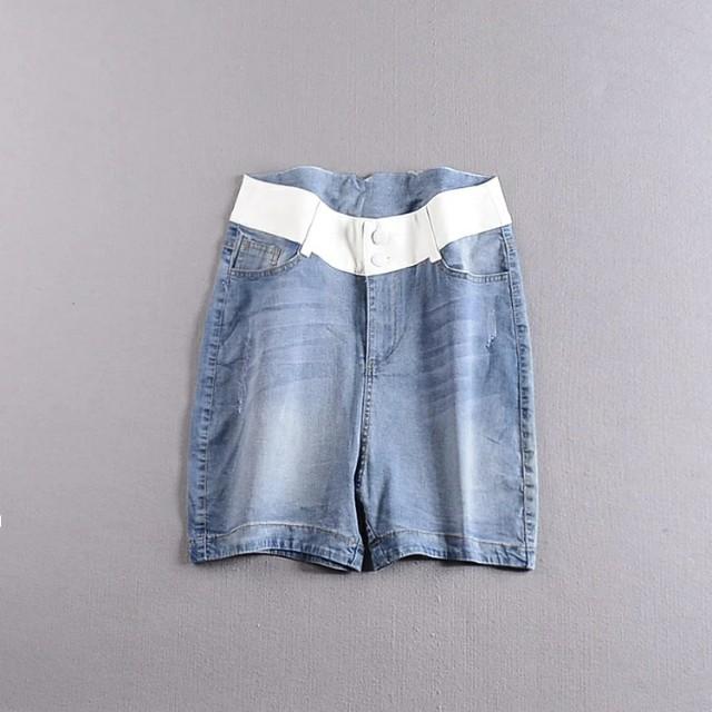 【春秋季】韓版新品顯瘦休閒淺色牛仔短褲