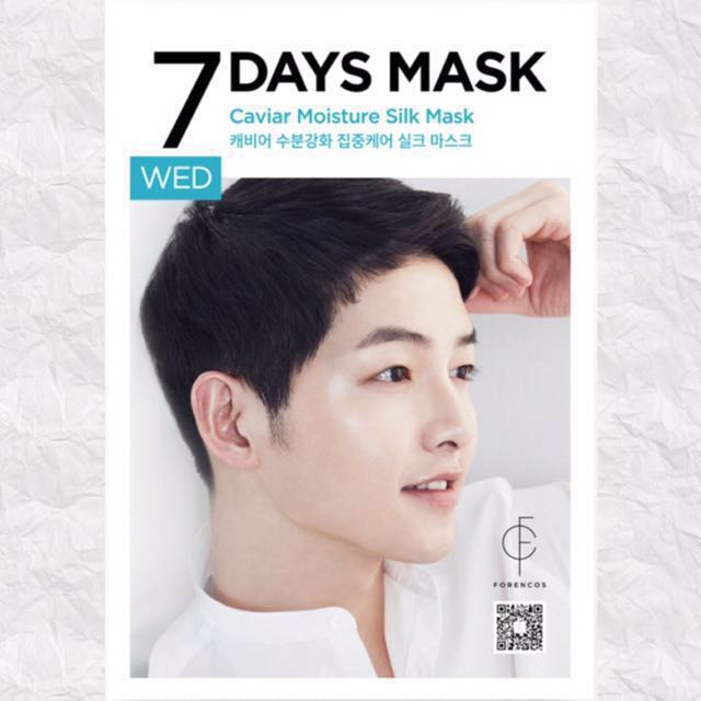 (60% Discount) FORENCOS SONG JOONG KI 7 DAYS MASK [WEDNESDAY]