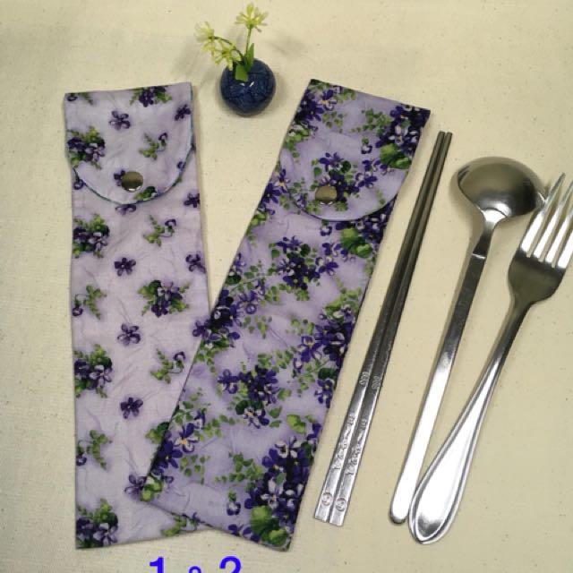 日本棉麻布製作 簡單生活環保筷組袋筆袋彩妝工具袋7*25公分(大)