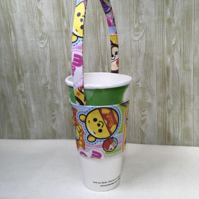 日本防水布製作 手搖飲料杯環保杯袋 環保杯套提袋(可選布做)