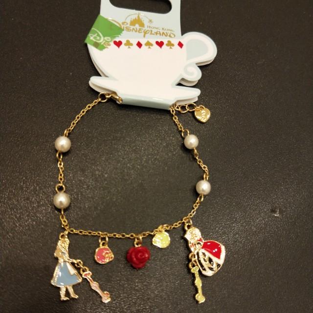 香港迪士尼 韓國製 愛莉絲夢遊仙境手鍊 附收據 情人節禮物