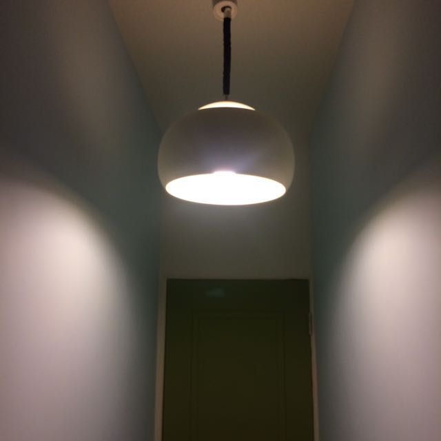 〔德國早期塑料吊燈〕餐燈 經典燈具 老件 太空年代 書房 餐廳 復古 mod 70 vintage space