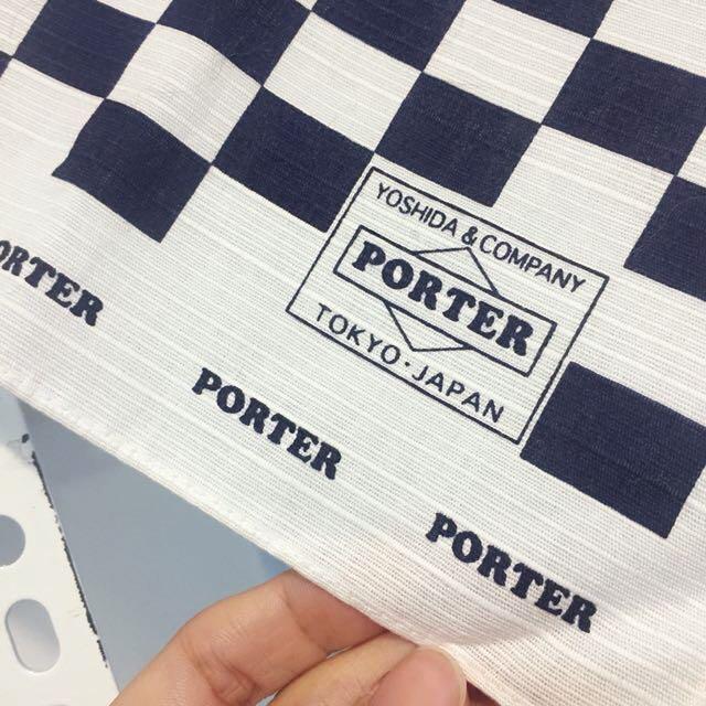 日本帶回 PORTER JAPAN 藍白格方巾