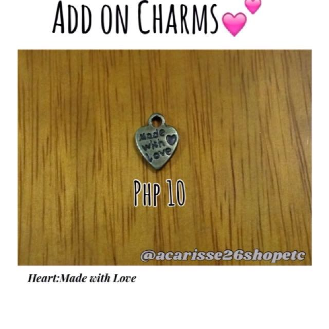 Add on Charms- Heart:Made with Love