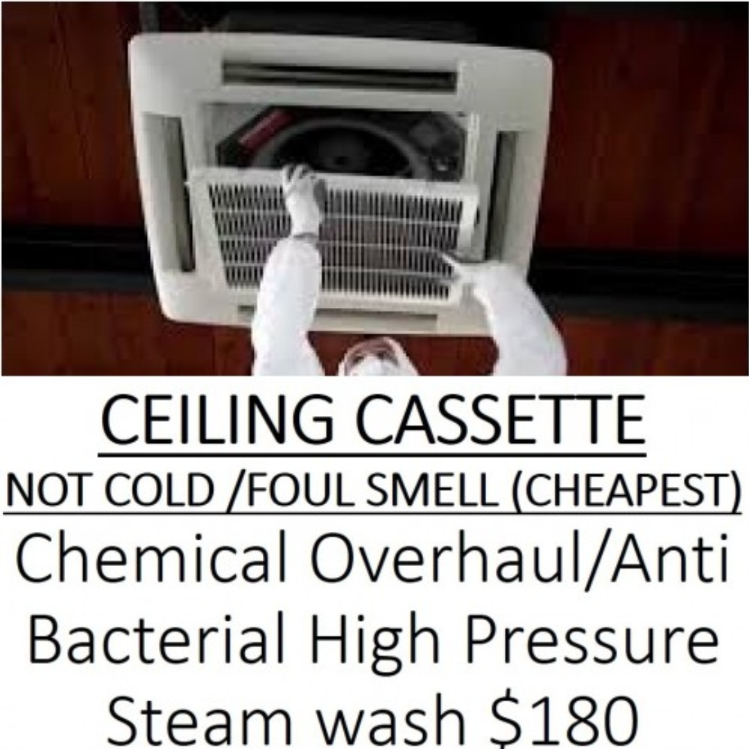Aircon CEILING CASSETTE CHEMICAL OVERHAUL PROMO $180 SERVICE