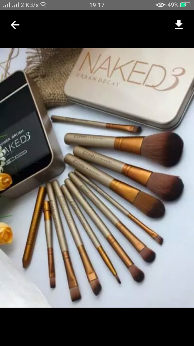 Aksesoris makeup isi 12 kuas brush