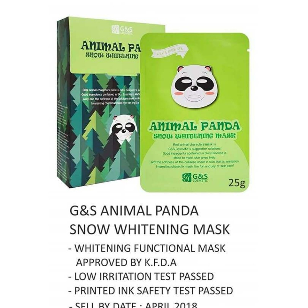 ANIMAL PANDA WHITENING MASKS