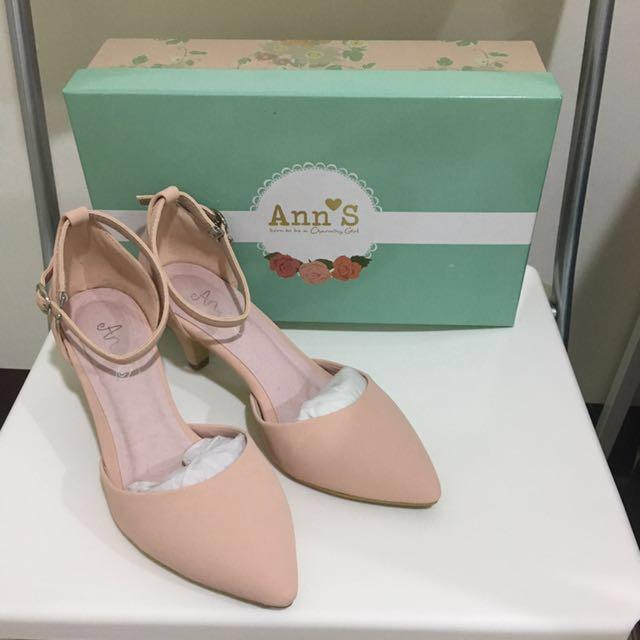 Ann's 粉紅尖頭鞋 37號