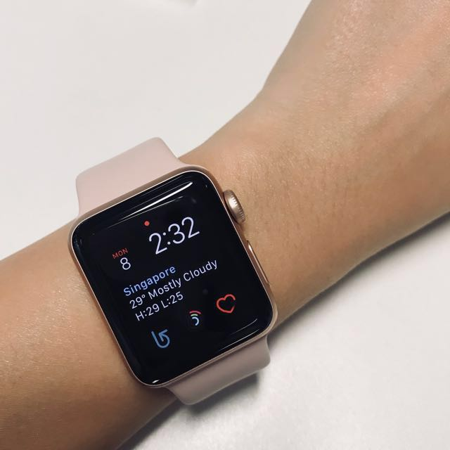 Apple Watch Series 3 Rose Gold 38mm Electronics Others On Carousell