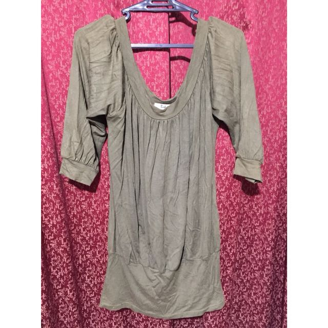 Army Green Two-Way Top