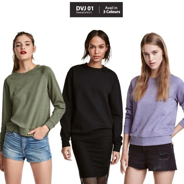 Atasan wanita sweatshirt branded