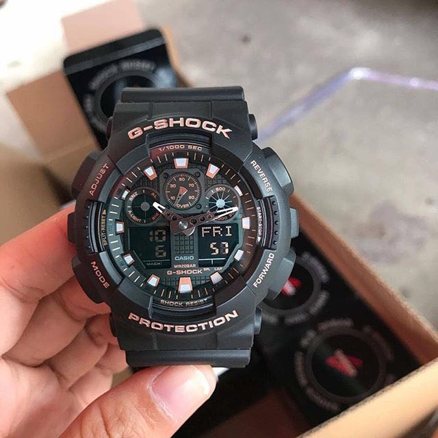46b8c21bf36 Authentic Brand New Casio G-Shock GA-100GBX-1A4 Black and Rose Gold ...
