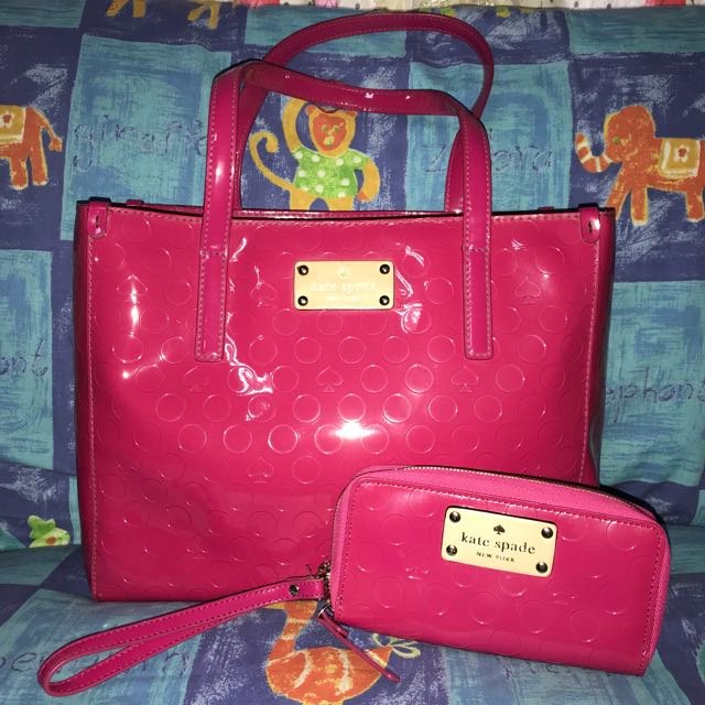 Authentic Kate Spade quinn yaletown tote SET