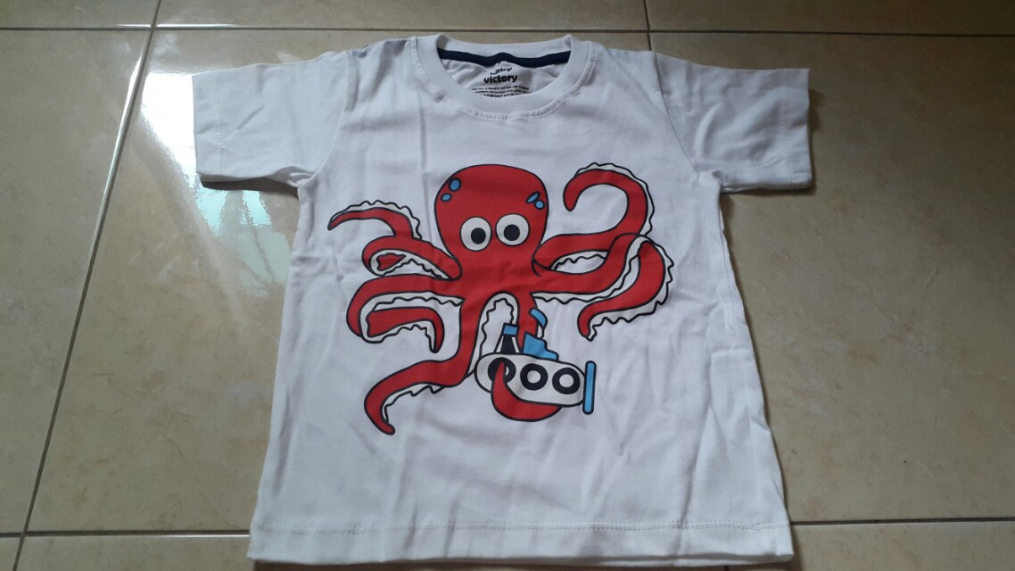 Baby victory t-shirt, octopus