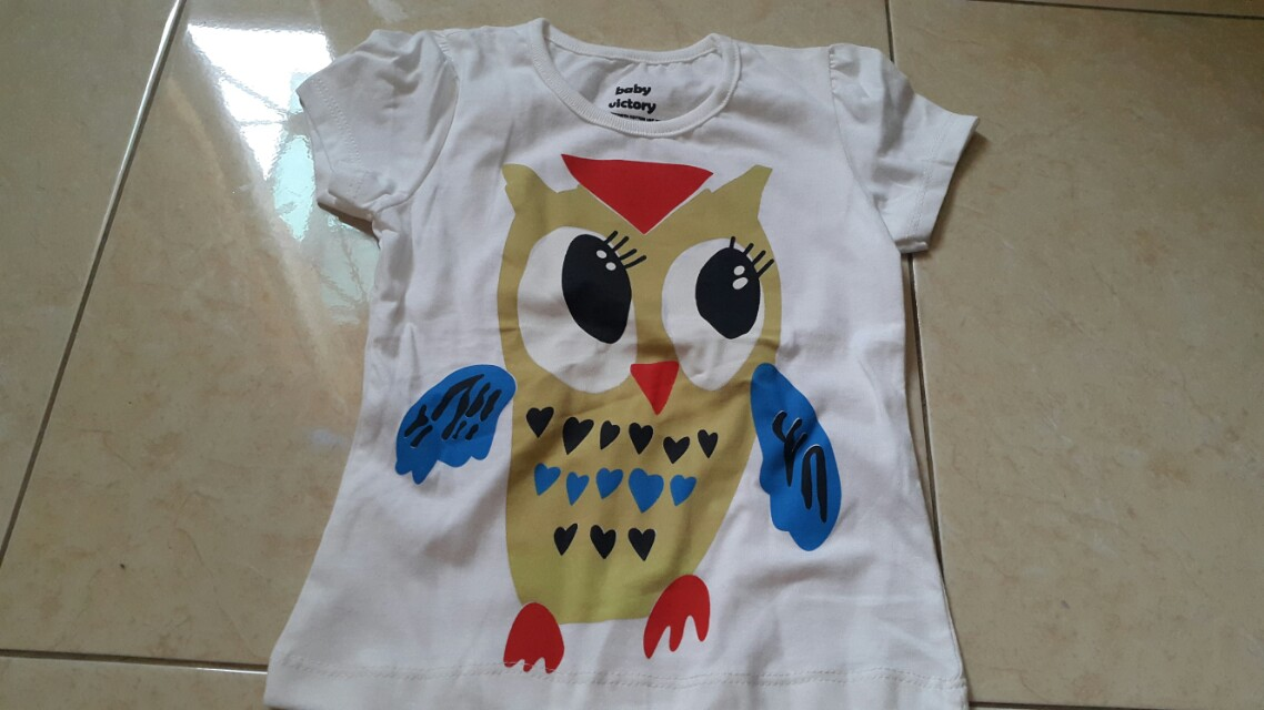 Baby victory t-shirt, owl