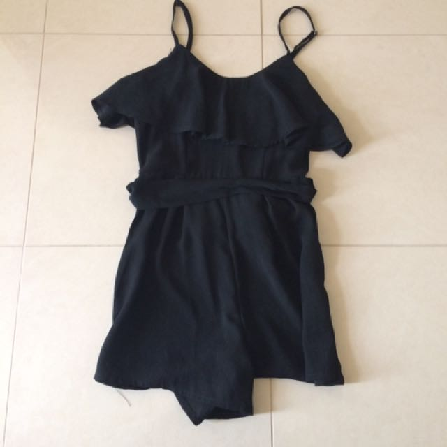 Black Playsuit size 6