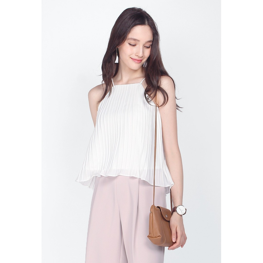 BN Fayth Fields Pleated Top (White) CNY