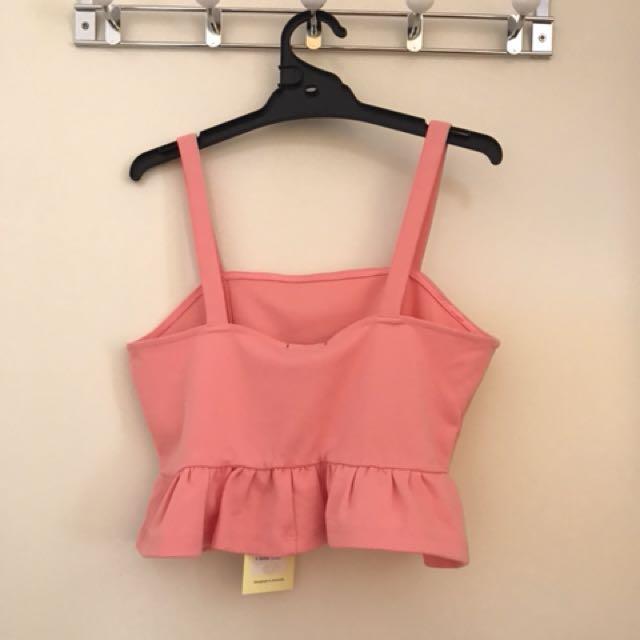 Brand new Bardot Pink Crop Top
