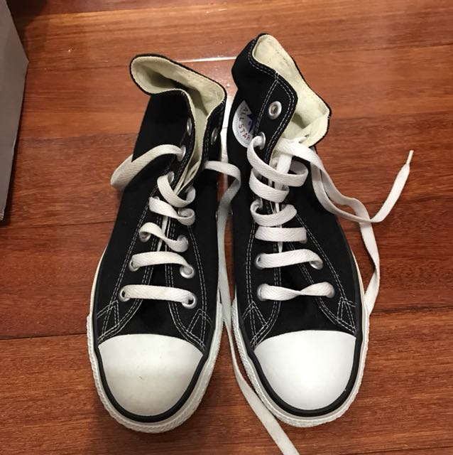 Brand new black converse high topsn