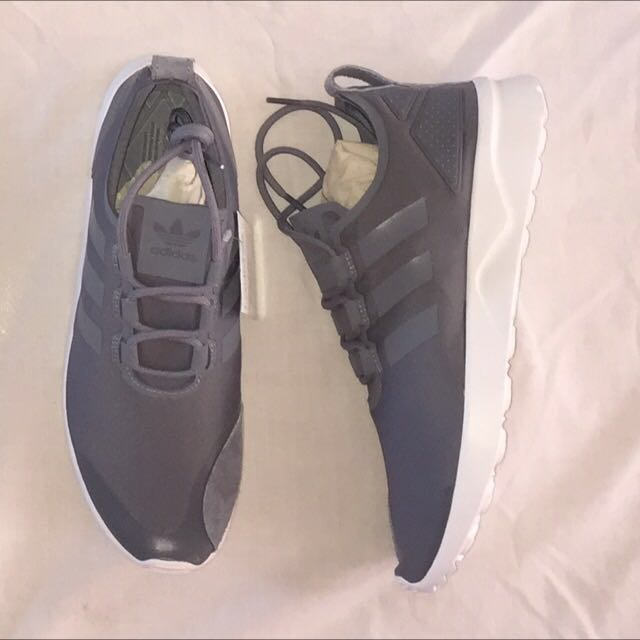 Brand new in box grey adidas zx flux