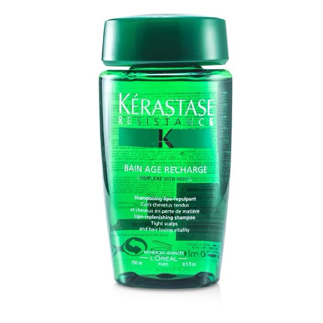 BRAND NEW Kerastase Resistance Bain Age Recharge Shampoo (For Tight Scalps & Hair Losing Vitality) 250ml