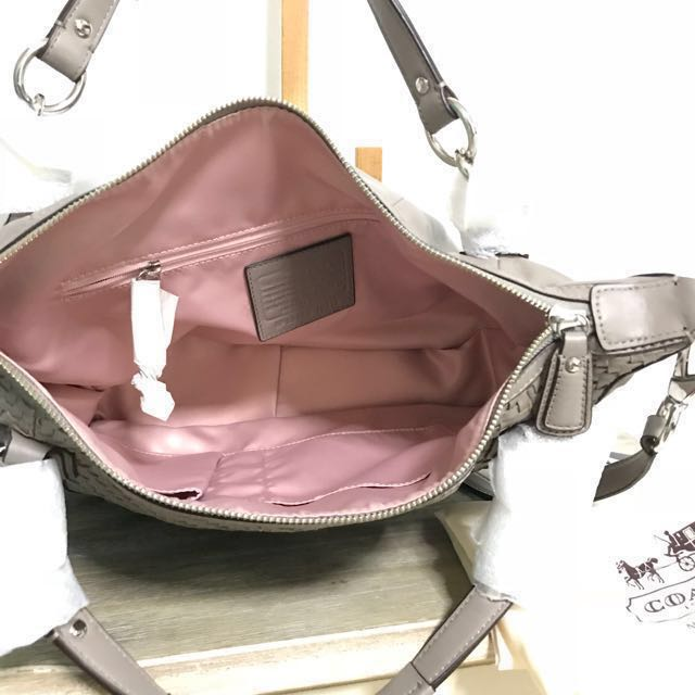2714f0cfa4 ... promo code for brand new with tag coach kristin woven leather bag grey  luxury bags wallets