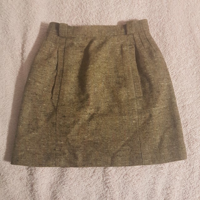 Brown Skirt Made in France