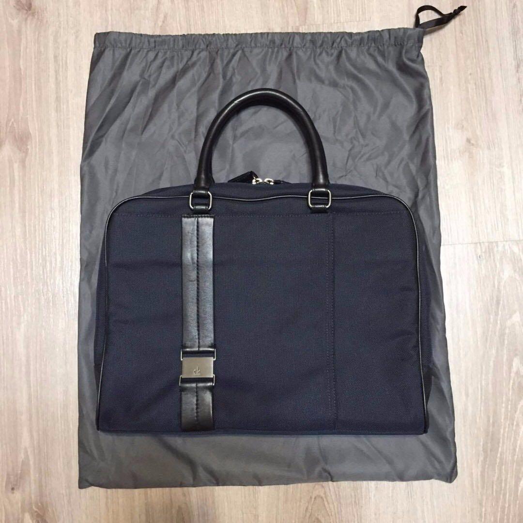 [Calvin Klein]公事包 降價 CK 深藍 附防塵袋 附品牌紙袋