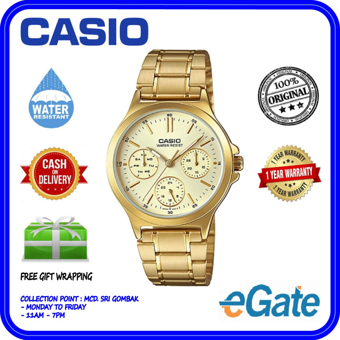 19110f359 Casio LTP-V300G-9A Women's Standard Gold Tone Stainless Steel Gold ...