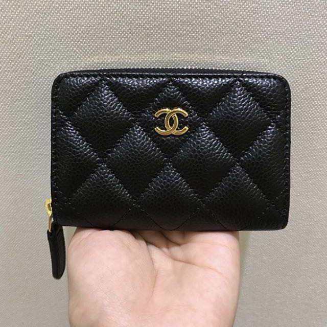 37a007eb7435 Chanel classic quilted zippy coin/card small wallet, Luxury, Bags & Wallets  on Carousell