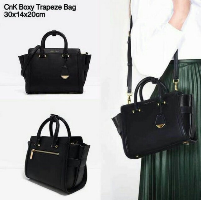Charles and Keith Boxy Trapeze Bag
