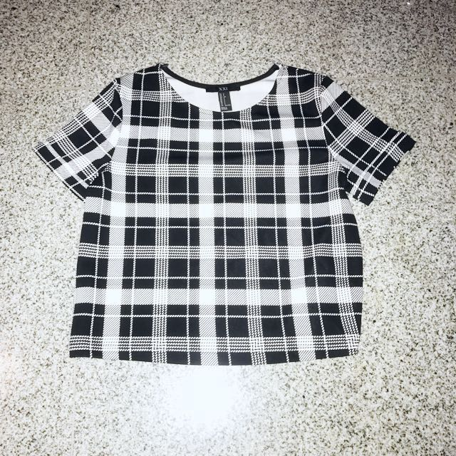 Checkered Scuba Crop Top