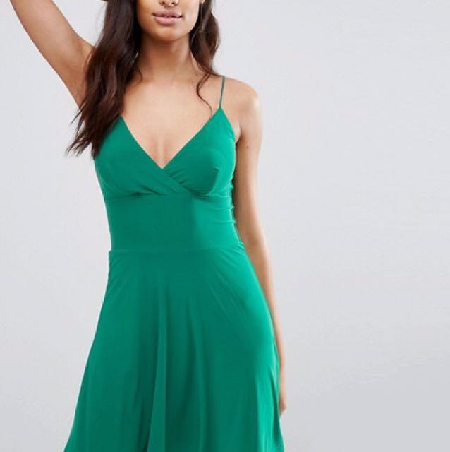 Club L green skater dress size 6