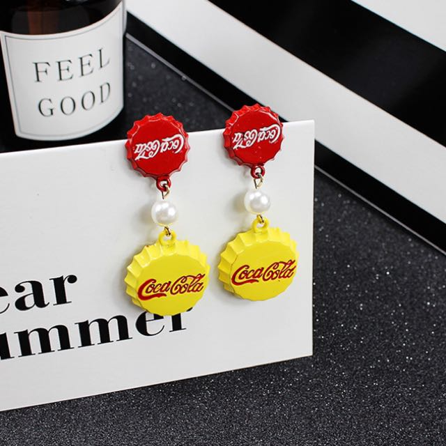 Coke Bottle Earrings ( Made in Korea )