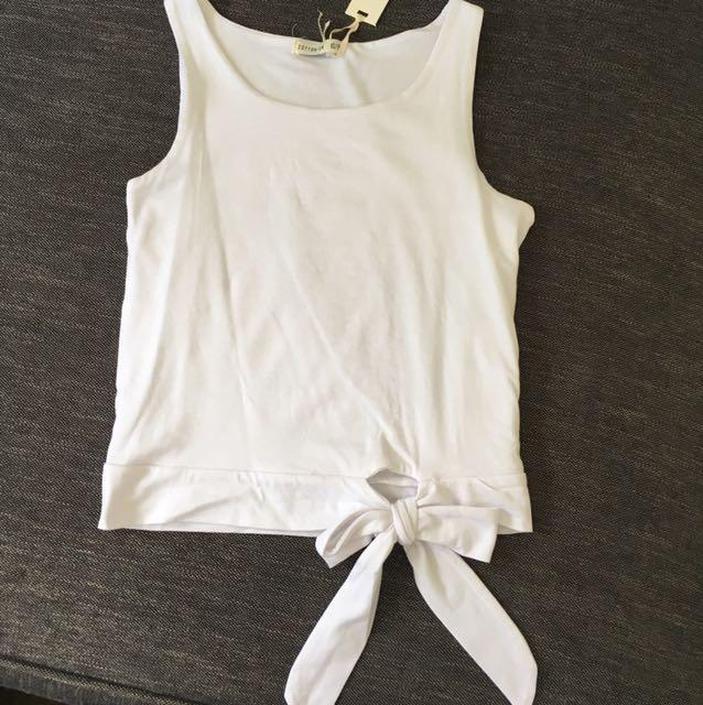Cotton On White Crop