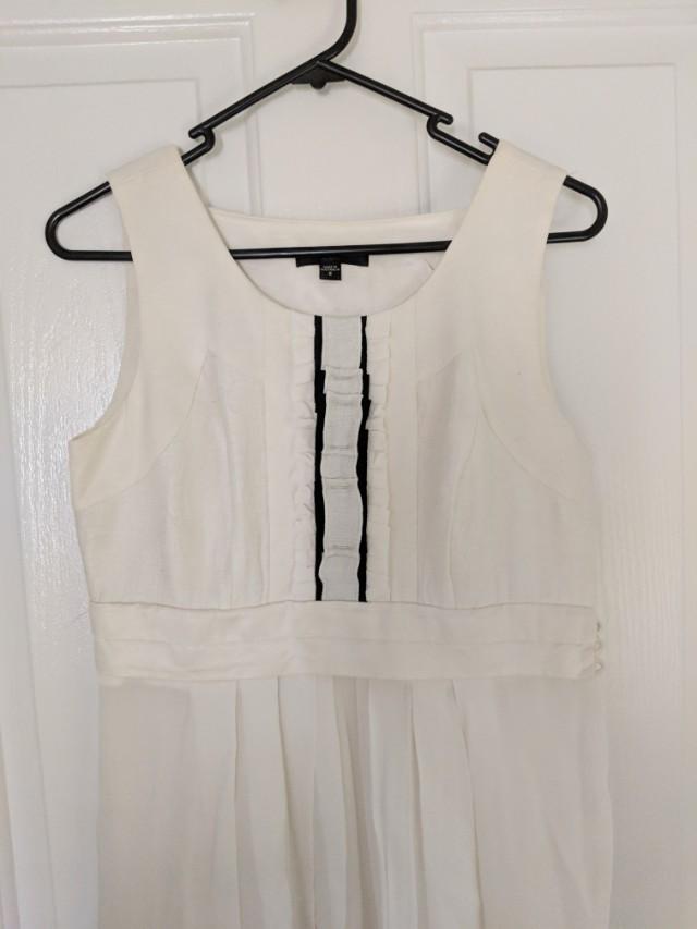 Cue White Midi Dress (size 8)
