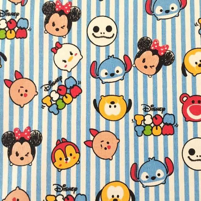 Cute Disney Tsum Cotton Canvas Fabric Kain Diy Cloth Design