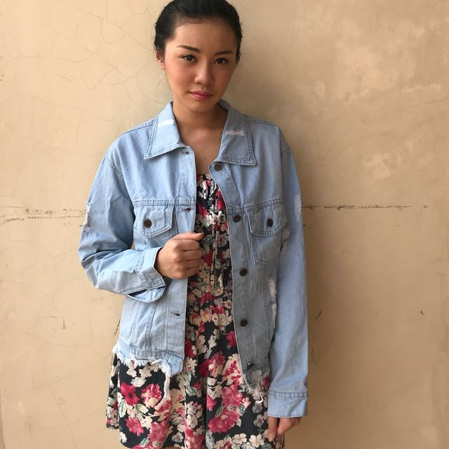 Denim Jacket Oversize (REAL PIC)