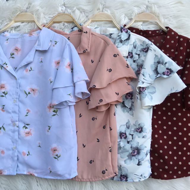 Double sleeves button down