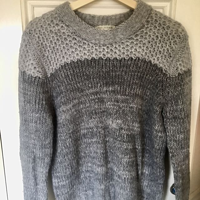 FAT brand Grey Knitted Jumper